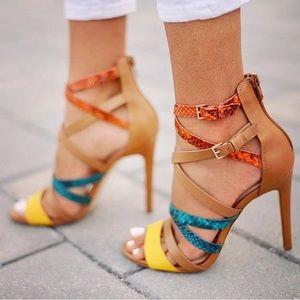 Strappy heels - brand new
